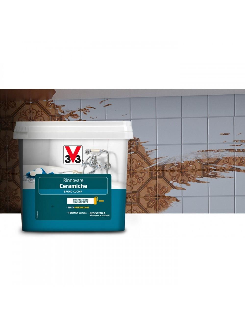 Pittura Per Piastrelle Del Bagno: Rinnovare le piastrelle del pavimento foto ...